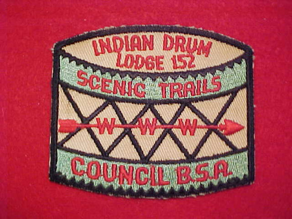 152 X2 INDIAN DRUM, MINT FRONT, GLUE ON BACK