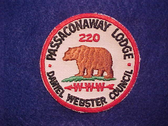 220 R2 PASSACONAWAY, MINT FRONT, GLUE ON BACK