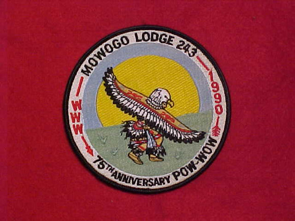 243 eR1990-? MOWOGO, 1990 POW WOW, 75TH ANNIVERSARY