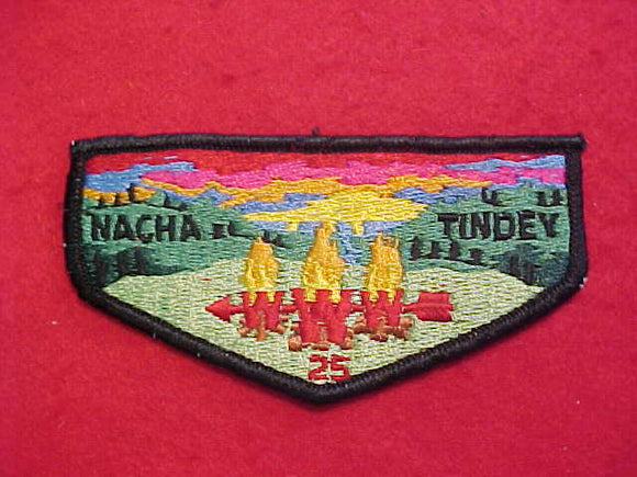25 S1B NACHA TINDEY, FIRST FLAP, DARK GREEN HILLS