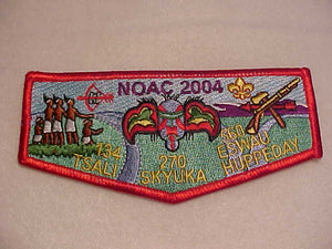 270 S26 SKYUKA, NOAC 2004, TRI-LODGE ISSUE W/ #134 (TSALI) & #560 (ESWAU HUPPEDAY)