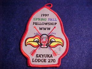 270 eA1997-1? SKYUKA, 1997 SPRING/FALL FELLOWSHIP, RED BDR.