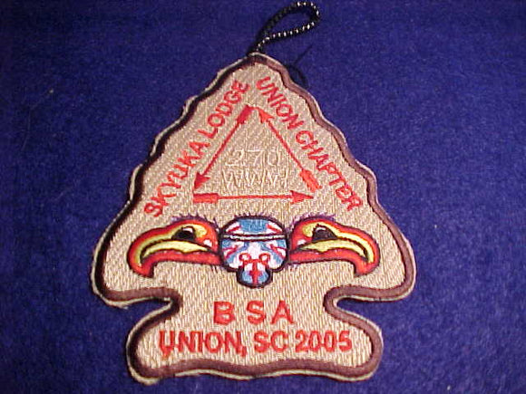 270 A1 SKYUKA, UNION CHAPTER, DK. BROWN BDR., UNION, SC, 2005