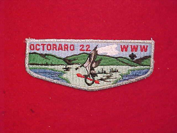 22 S18 OCTORARO, BLACK HORSESHOE, PLASTIC BACK