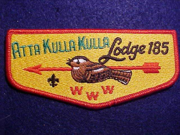 185 S? ATTA KULLA KULLA, 2002, SCOUT STUFF BACK, RED BDR.