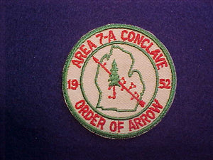1952 AREA 7-A CONCLAVE, MICHIGAN