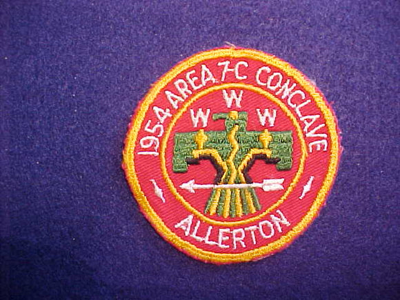 1954 AREA 7-C CONCLAVE,USED,EXCELLENT CONDITION