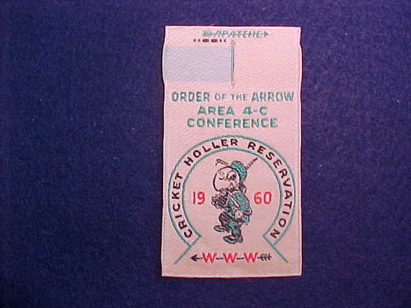 1960 AREA 4-C,WOVEN,CRICKET HOLLER RES,HOST LODGE 495 MIAMI