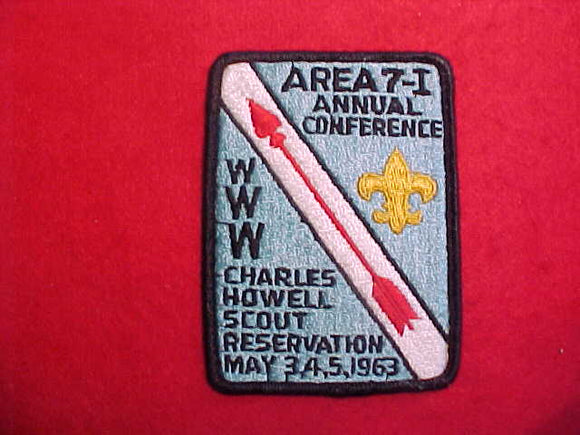 1963 AREA 7-I CONFERENCE,CHARLES HOWELL RES,SLIGHT USE
