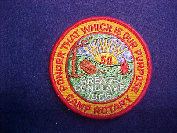 1965 AREA 7-J CONCLAVE,HOST CAMP ROTARY