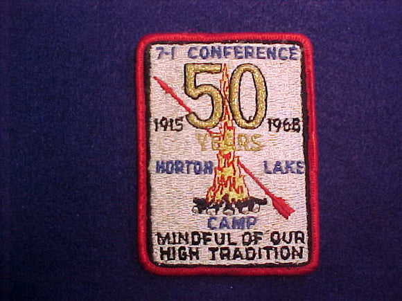 1965 AREA 7-I CONFERENCE,HORTON LAKE CAMP,HOST LODGE 218 CUWE,USED