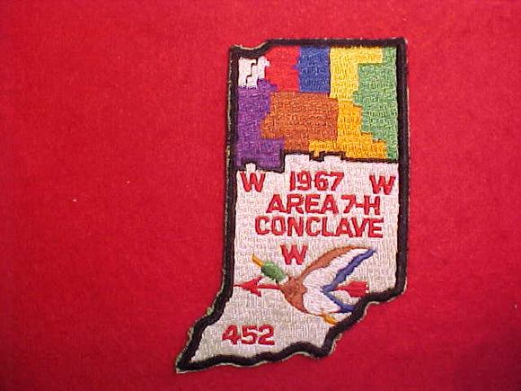 1967 AREA 7-H CONCLAVE,HOST LODGE 452 SHE SHEEB