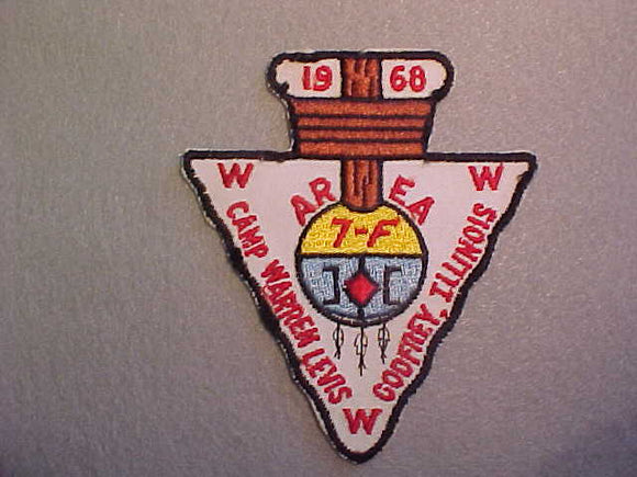 1968 AREA 7-F CONCLAVE, CAMP WARREN LEVIS,GODFREY,IL