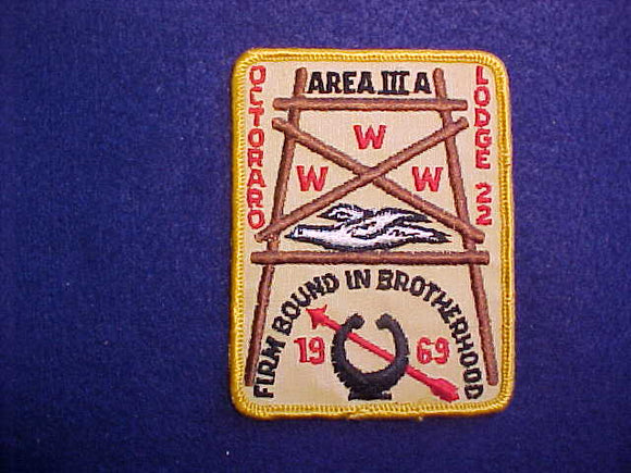 1969 AREA 3-A CONCLAVE,HOST LODGE 22 OCTORARO