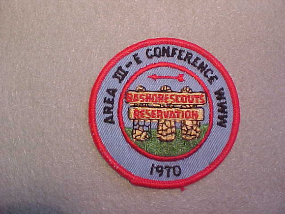 1970 AREA 3-E CONFERENCE,BAYSHORE SCOUTS RESERVATION