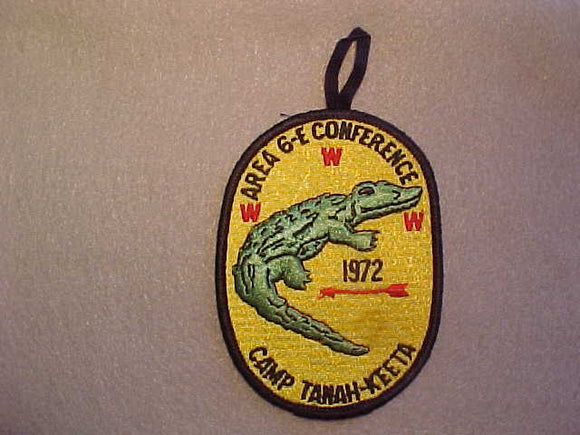 1972 AREA 6-E CONFERENCE,CAMP TANAH-KEETA