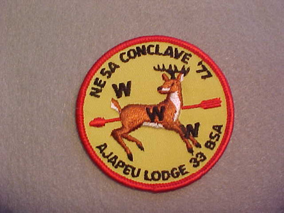 1977 SECTION NE-5A CONCLAVE,HOST LODGE 33 AJAPEU