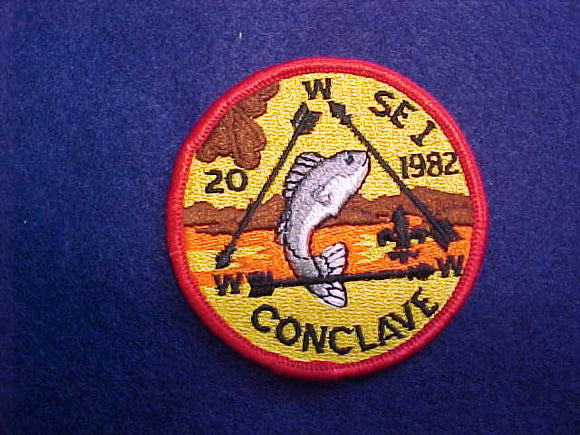 1982 SECTION SE1 CONCLAVE PATCH, HOST LODGE 20