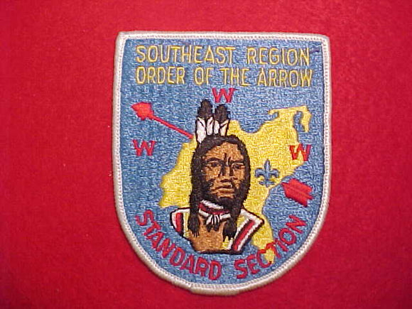 SOUTHEAST REGION STANDARD SECTION PATCH, BLUE BACKGROUND
