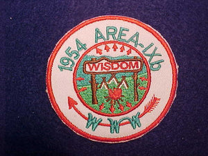 1954 AREA 9B CONCLAVE CAMP WISDOM, FAKE PATCH