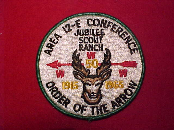 1965 AREA 12E CONFERENCE, JUBILEE SCOUT RANCH