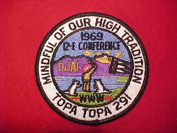1969 AREA 12E CONFERENCE, HOST LODGE 291 TOPA TOPA
