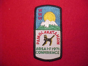 1971 AREA 1F CONFERENCE, HOST LODGE 211 PAMOLA