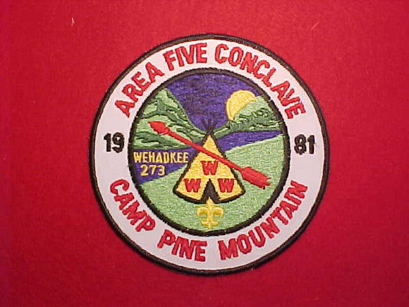 1981 SE5 CONCLAVE, CAMP PINE MOUNTAIN, WEHADKEE 273