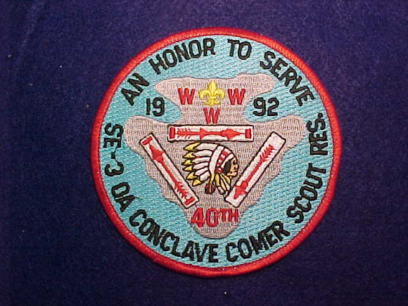 1992 SE3 CONCLAVE, COMER SCOUT RESERVATION
