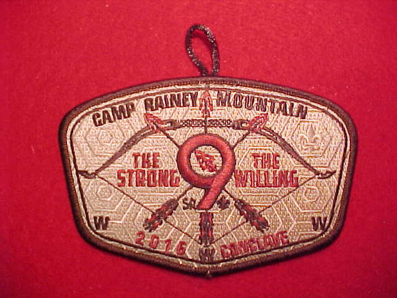 2016 SR9 CONCLAVE WITH BUTTON LOOP, CAMP RAINEY MOUNTAIN