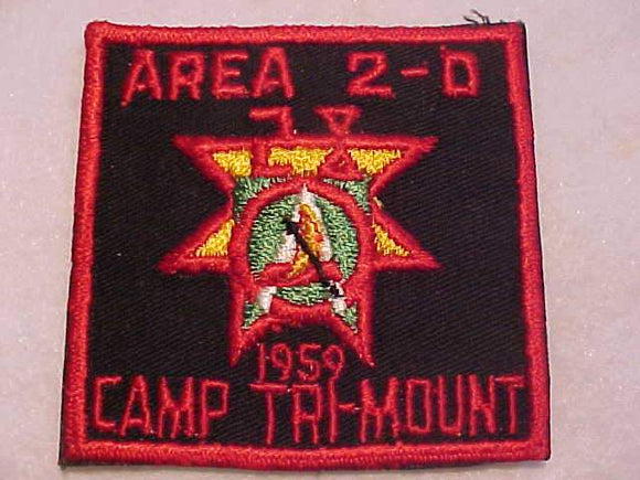 1960 PATCH, AREA 2D CONCLAVE, CAMP TRI-MOUNT