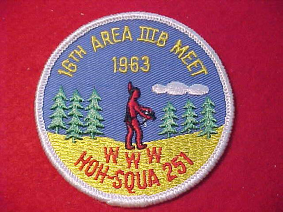 1963 PATCH, AREA 3B MEET, HOST LODGE HOH-SQUA 251