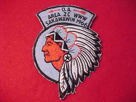 1966 PATCH, AREA 2C, HOST LODGE SAKAWAWIN 287, SLIGHT USE