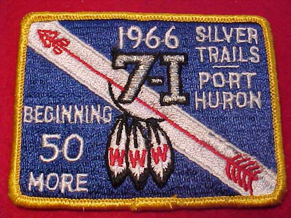 1966 PATCH, AREA 7i, HOST LODGE CHICKAGAMI 180, SILVER TRAILS/PORT HURON