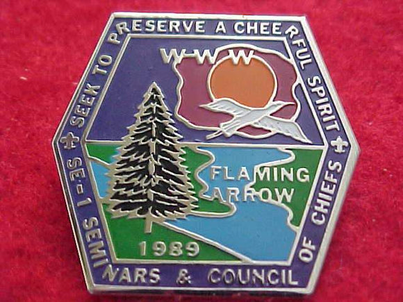 1989 PIN, SECTION SE-1, SEMINARS & COUNCIL OF CHIEFS