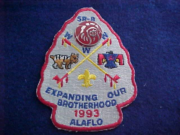 1993 PATCH + PARTICIPATION PIN, SECTION SR8 CONCLAVE, CAMP ALAFLO