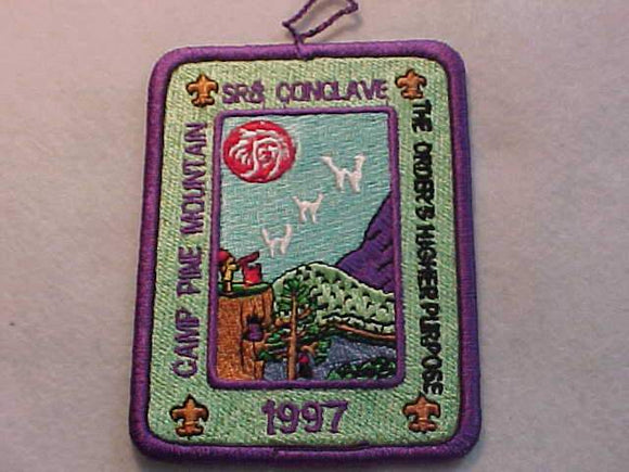 1997 PATCH, SECTION SR8 CONCLAVE, CAMP PINE MOUNTAIN