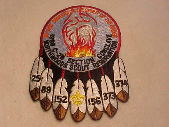 1998 PATCH, SECTION C2B CONCLAVE, NORTHWOODS SCOUT RESERVATION