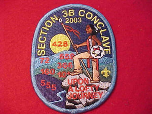 2003 PATCH, SECTION 3B CONCLAVE