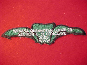 2003 PATCH, SECTION C-3C CONVLAVE, HOST LODGE WENASA QUENHOTAN 23