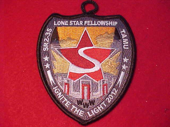 2012 PATCH, SECTION SR2-3S, LONE STAR FELLOWSHIP, RED STAR