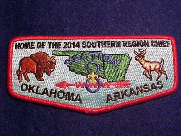 2014 FLAP, SECTION SR8, HOME OF THE SOUTHERN REGION CHIEF, OKLAHOMA/ARKANSAS