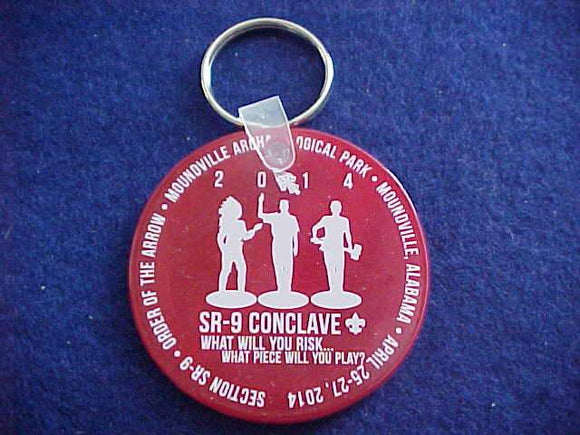 2014 KEYCHAIN, SECTION SR9 CONCLAVE, PLASTIC