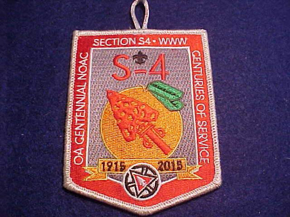 2015 PATCH, SECTION S4 NOAC, SOUTHERN REGION SECTION 4