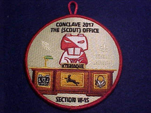 2017 PATCH, SECTION W1S CONCLAVE, SPIRIT AWARD, KTEMAQUE