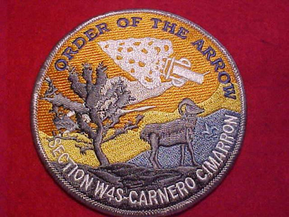 W4S SECTION PATCH, CARNERO CIMARRON, NO DATE