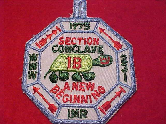 1973 EC1B SECTION CONCLAVE PATCH, IMR (INDIAN MOUND RESV.)