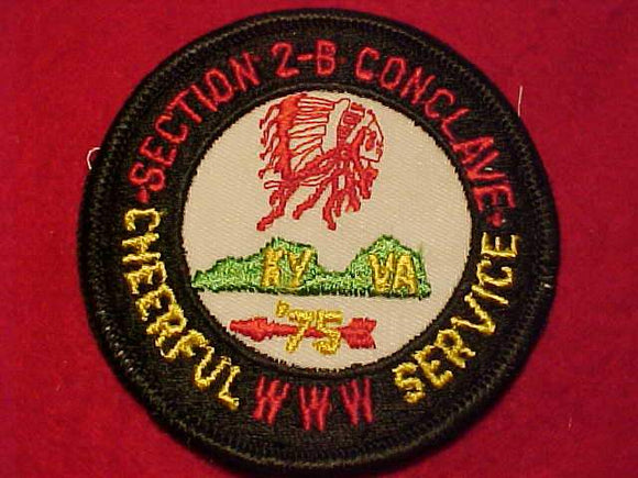 1973 SE2B SECTION CONCLAVE PATCH, CHEERFUL SERVICE