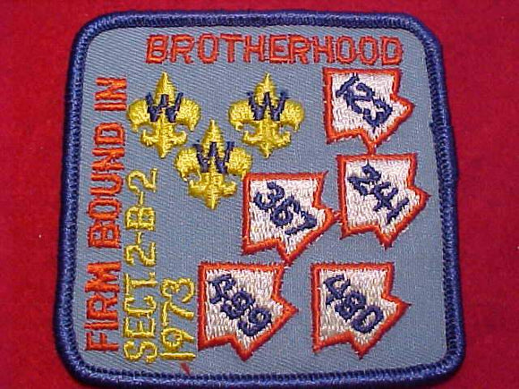 1973 SE2B2 SECTION CONCLAVE PATCH, OA LODGES IN SECTION 123, 241, 367, 499, 480