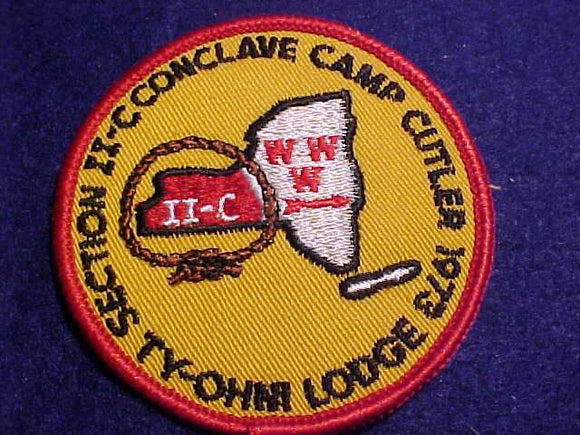 1973 NE2C SECTION CONCLAVE PATCH, CAMP CUTLER, TY-OHM LODGE 95 HOST